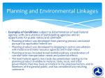 planning and environmental linkages1
