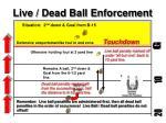 live dead ball enforcement