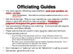officiating guides