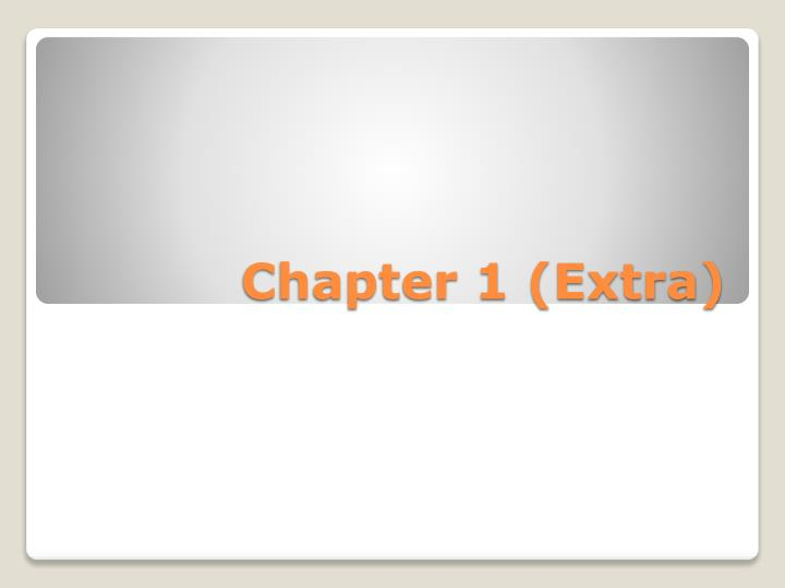 chapter 1 extra n.