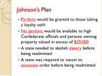 johnson s plan
