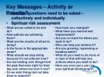 key messages activity or results1