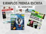 ejemplos prensa escrita