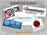 ejemplos radio