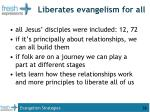 liberates evangelism for all
