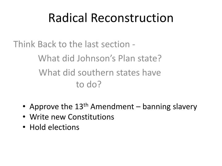 radical reconstruction n.