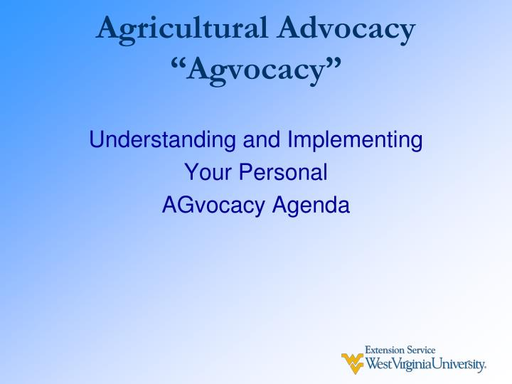 Agricultural Advocacy
