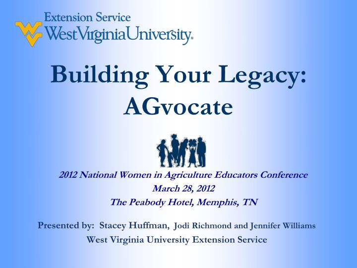 building your legacy agvocate n.