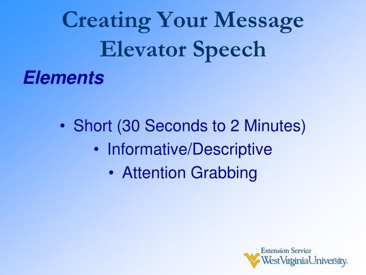 Creating Your Message