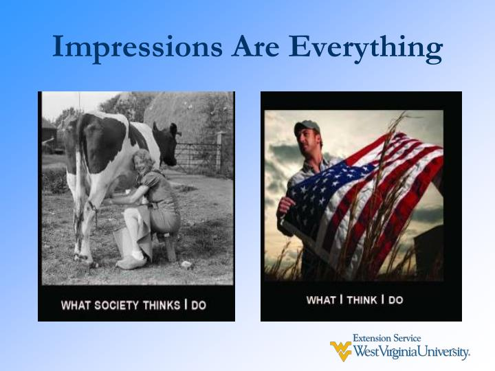 Impressions are everything