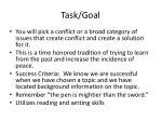 task goal