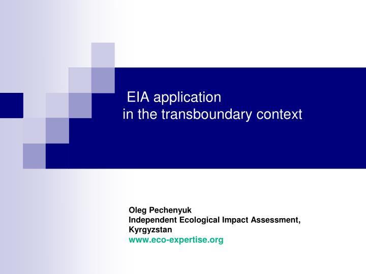 eia application in the transboundary context n.