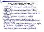 methodic basis of eia conduction in transboundary context