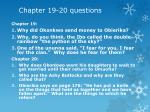 chapter 19 20 questions