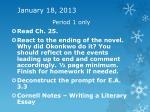 january 18 2013