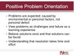 positive problem orientation