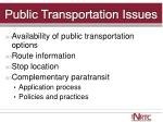 public transportation issues