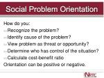 social problem orientation