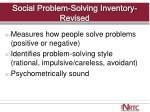 social problem solving inventory revised