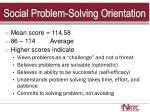 social problem solving orientation