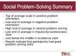 social problem solving summary