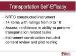 transportation self efficacy