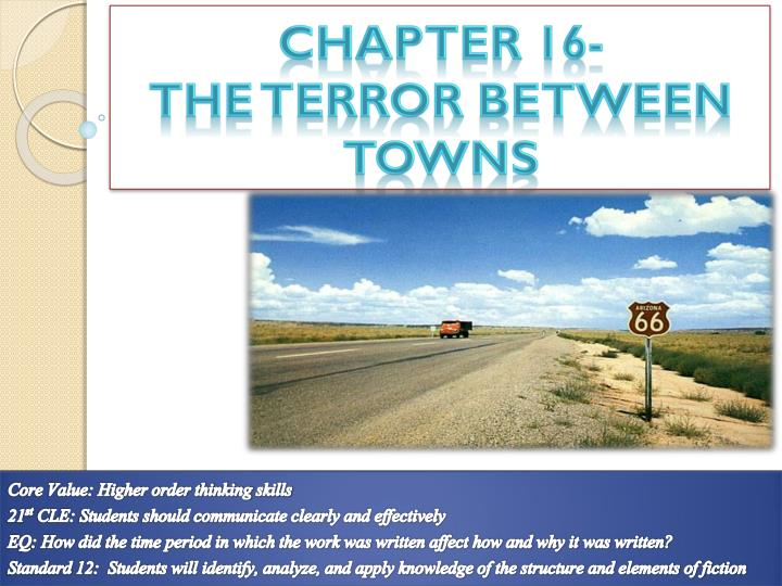 chapter 16 the t error between towns n.