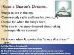 rose a sharon s dreams