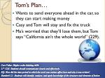 tom s plan
