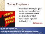 tom vs proprietors