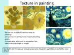 texture in painting