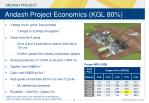 andash project economics kgl 80