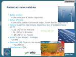 potentiels renouvelables