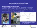 respirator protection factor