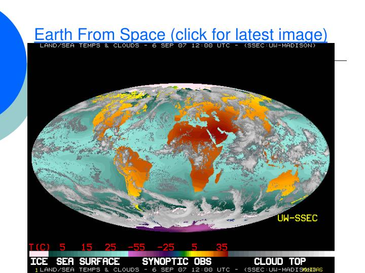 Earth From Space (click for latest image)