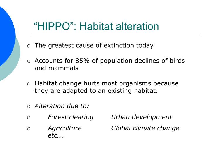 """HIPPO"": Habitat alteration"