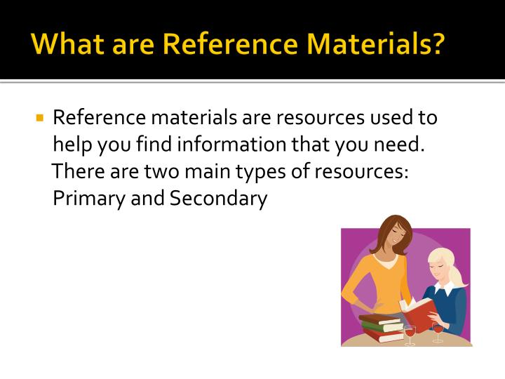 what are reference materials n.