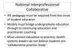 national interprofessional collaborative