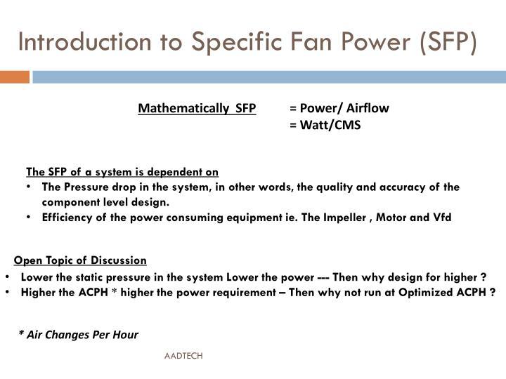 Specific Fan Power : Ppt intelligent air handling powerpoint presentation
