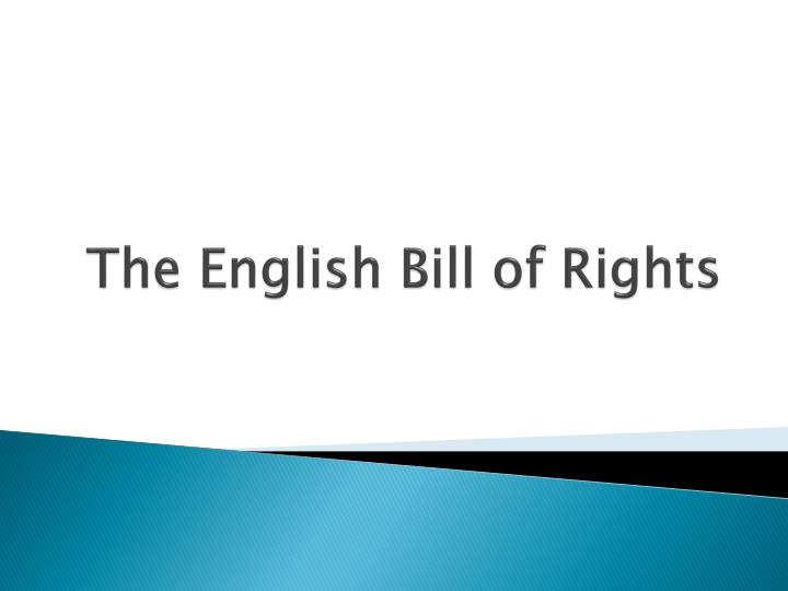 the english bill of rights n.