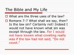 the bible and my life12