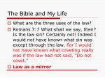 the bible and my life13