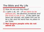 the bible and my life22