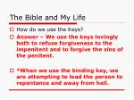 the bible and my life29