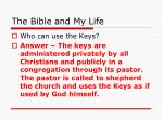 the bible and my life36