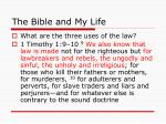 the bible and my life9