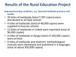 results of the rural education project1