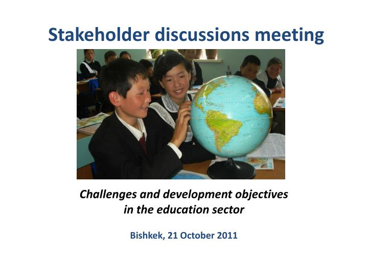stakeholder discussions meeting n.