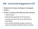 wb civil society engagement in kr