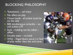 blocking philosophy